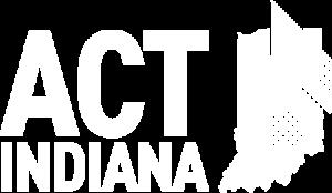 Act Indiana Logo - white - small